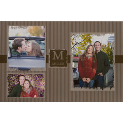 Three Photo Collage Personalized 16x24 Canvas