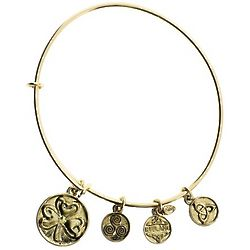 Gold Shamrock Bangle Bracelet