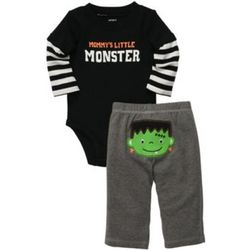 Mommy's Little Monster Baby Bodysuit Set