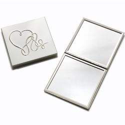 Love Story Square Compact Mirror