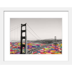 It's in the Water Golden Gate Bridge Framed Print