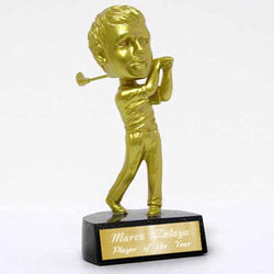 Personalized Bobble Head Golf Trophy