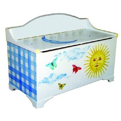 Sunshine Day Dream Hand Painted Toy Box
