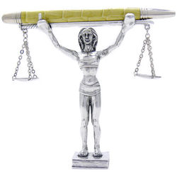 Justitia Justice Pen Holder
