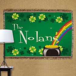 Personalized Irish Rainbow Tapestry Throw Blanket