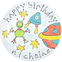 Handpainted Birthday Plate