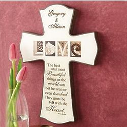 'Love' Architectural Letters Personalized Cross
