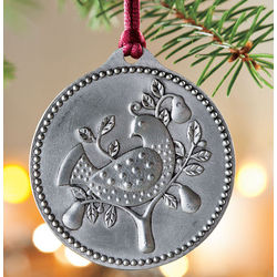 12 Days Of Christmas Pewter Ornaments