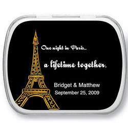 Eiffel Tower Personalized Mint Tins