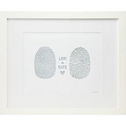Framed Custom Fingerprint Wall Art