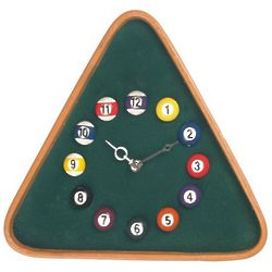 Pool Rack Billiard Clock