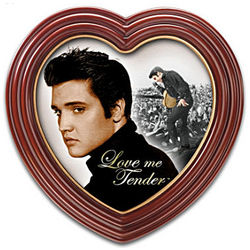 Heart-Shaped Elvis Presley Framed Canvas Print Wall Decor