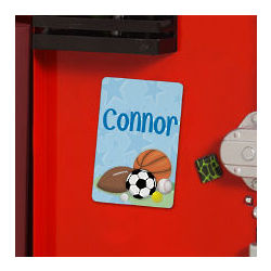 Personalized Sports Fan Locker Magnet