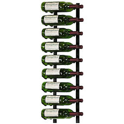 18 Bottle Wall Mounted Metal Hanging Wine Rack