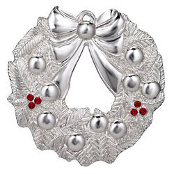 Waterford Silver 2012 Wreath Ornament