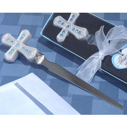 Blue Cross Design Letter Opener