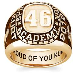 Men's 18K Gold Over Sterling Personalized Traditional Class Ring