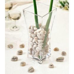 Wedding Signing Stones and Vase