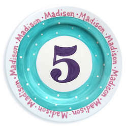Girl's My Age Personalized Ceramic Plate