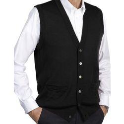 Merino Wool Blend Sweater Vest