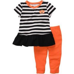 Baby Girl's Pumpkin Legging Set