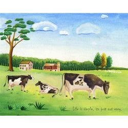 Life on the Farm Personalized Print