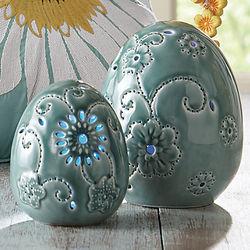 Ceramic Glazed LED Eggs