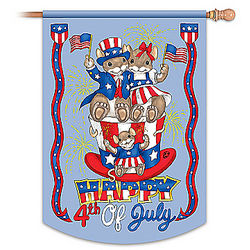 Charming Tails 4th of July Indoor and Outdoor Flag
