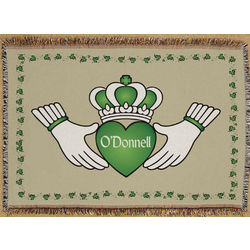 Personalized Claddagh Tapestry Throw Blanket