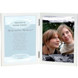 Heaven's Young Angel Poem and Photo Frame