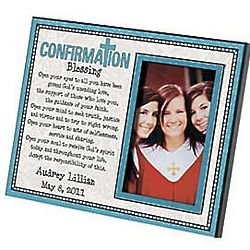 Personalized Communion or Confirmation Wood Photo Frame