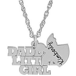 Personalized Sterling Silver Daddy's Little Girl Necklace