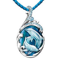 Dolphin Reflections of Paradise Crystal Necklace