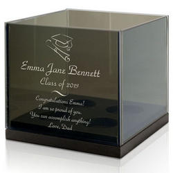 Personalized Graduation Glass Candle Holder