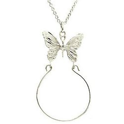 Sterling Silver Butterfly Pendant with Charm Holder