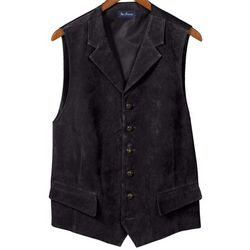 Suede Six-Button Vest