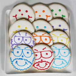 6 Pittsburgh Dad Cookies and 6 Original Smiley Cookies