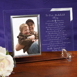 Godchild Beveled Glass Picture Frame