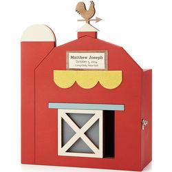 Barn Style Personalized Baby Keepsake Box