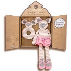 Organic Ballerina Mouse Plush Toy and Rattle