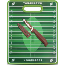 Football Nonslip Cutting Board with Paring Knife