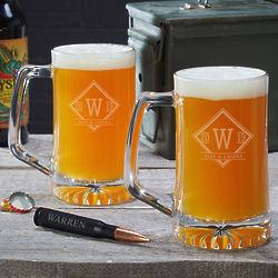 2 Drake Personalized Beer Mugs