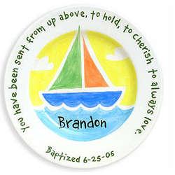 Handpainted Baptism Plate