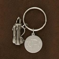 Engraved Men's Golf Key Chain