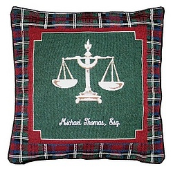 Lawyer Tapestry Personalized Pillow