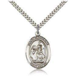 Sterling Silver St. Catherine of Siena Pendant with Chain