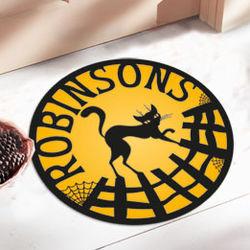 Personalized Round Halloween Doormat