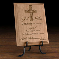 Personalized On Your Baptism Day Wooden Plaque