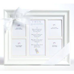 Twin Milestones Keepsake Frame