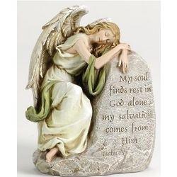 My Soul Finds Rest Angel Garden Figure
